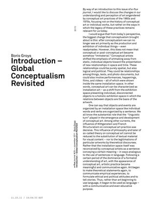 Boris Groys – Introduction –Global Conceptualism Revisited / e-flux Journal 11/2011