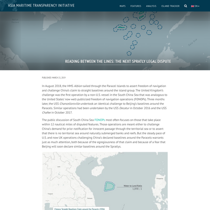 Reading Between the Lines: The Next Spratly Legal Dispute | Asia Maritime Transparency Initiative