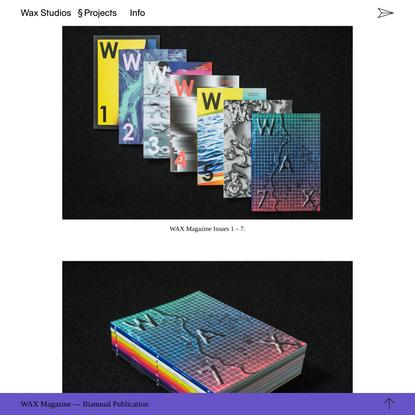 WAX Studios: WAX Magazine