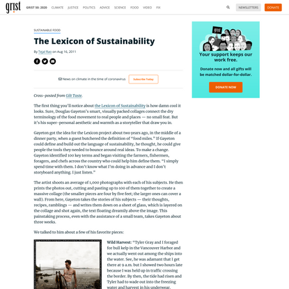 The Lexicon of Sustainability