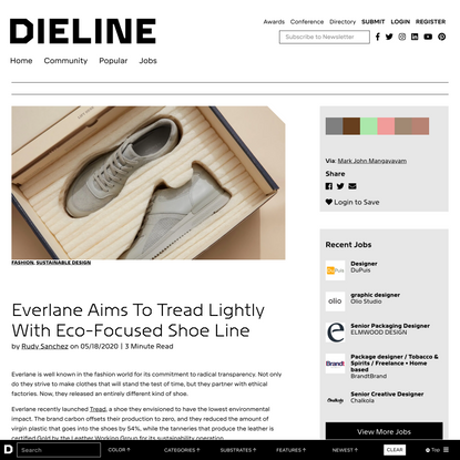 Everlane Aims To Tread Lightly With Eco-Focused Shoe Line