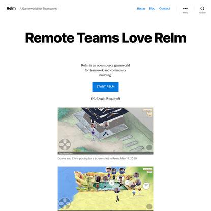 Relm – A Gameworld for Teamwork!