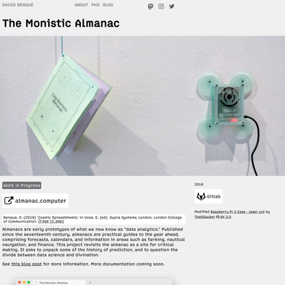 The Monistic Almanac