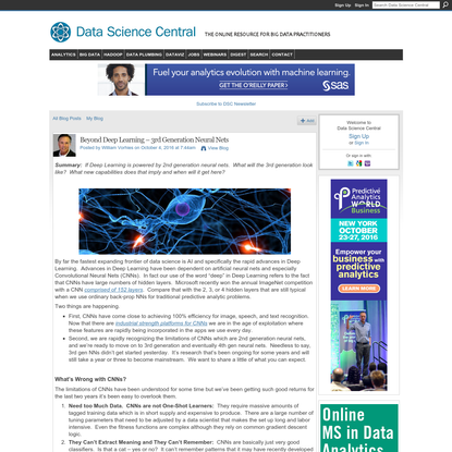 Beyond Deep Learning - 3rd Generation Neural Nets