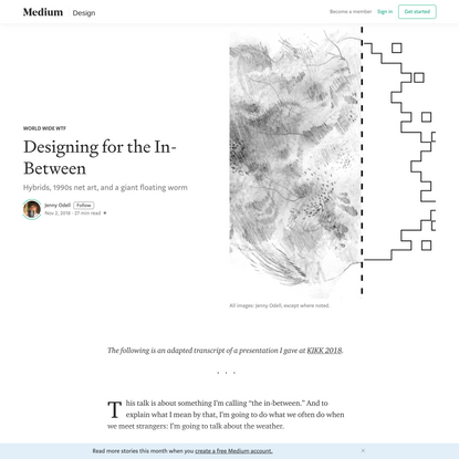 Designing for the In-Between
