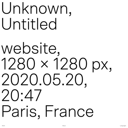 Unknown, Untitled — Home