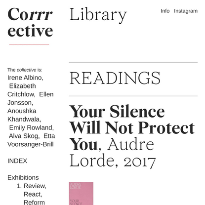 library — Corrrective