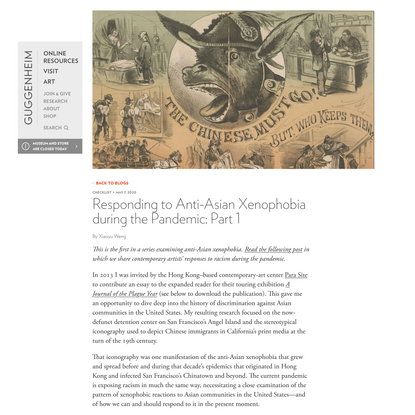 Responding to Anti-Asian Xenophobia during the Pandemic: Part 1