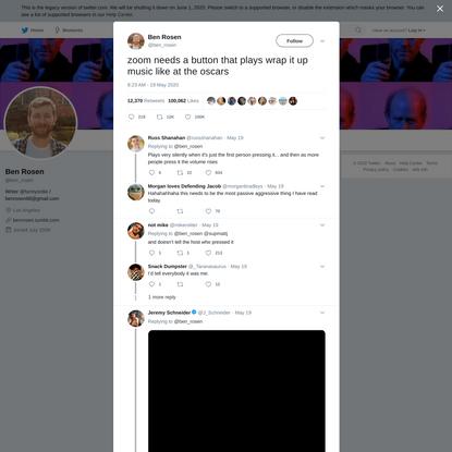 Ben Rosen on Twitter