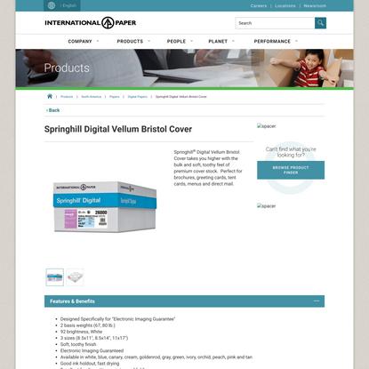 Springhill Digital Vellum Bristol Cover