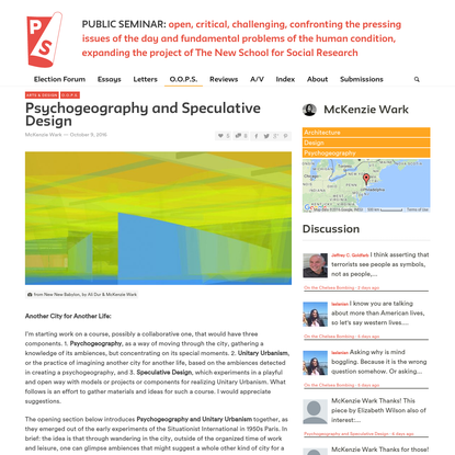Psychogeography and Speculative Design