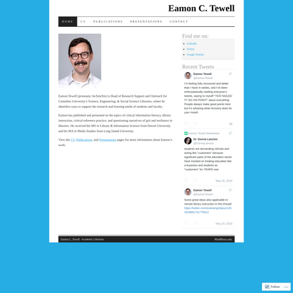 Eamon C. Tewell