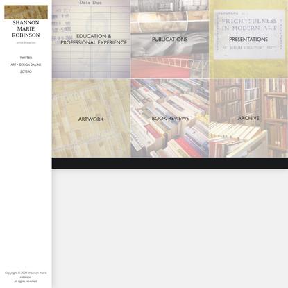 shannon marie robinson – artist librarian