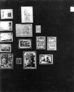Tafeln 76, Engrams: defence, annihilation, apotheosis. The Mother, the Angel, the golf player (prints, stamps)