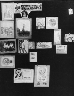 Tafeln 77, Engrams: defence, annihilation, apotheosis. The Mother, the Angel, the golf player (prints, stamps)