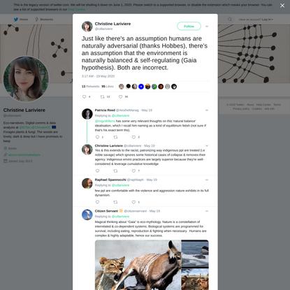 Christine Lariviere on Twitter
