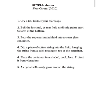 Jenna Sutela, Tear Crystal (2020)