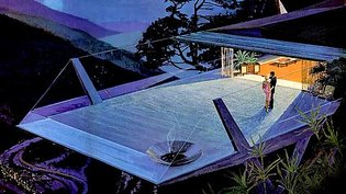 """Charles Schridde's """"House of the Future"""" illustrations for Motorola Television, 1961."""