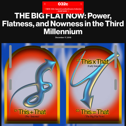 THE BIG FLAT NOW: Power, Flatness, and Nowness in the Third Millennium - 032c