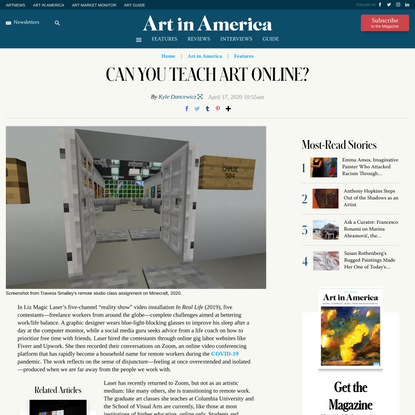 Can You Teach Art Online?