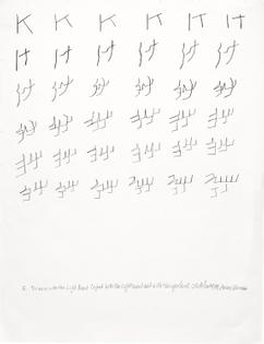 Kinesthetic Drawing (K), 1974