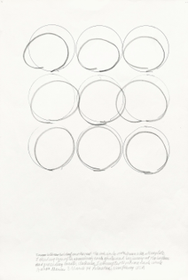 Kinesthetic Drawing (Line lengths), 1974