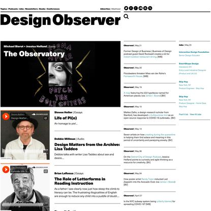 Design Observer: Writings on Design + Visual Culture: Design Observer