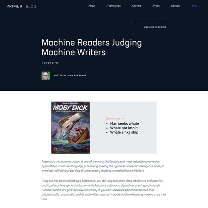 Primer | Machine Readers Judging Machine Writers