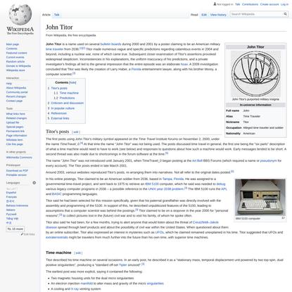 John Titor - Wikipedia