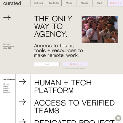 Curated: The Only Way to Agency