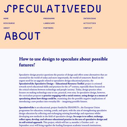 SpeculativeEdu | About