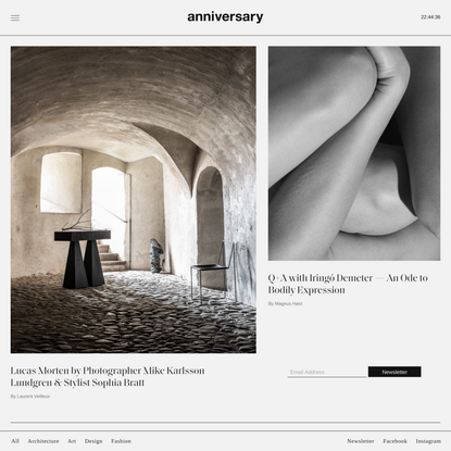 anniversary magazine — Art, Architecture, Design, Fashion & Society