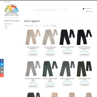 Earl's Apparel Clothing - Clothing by Earl's Apparel All Seasons Uniforms