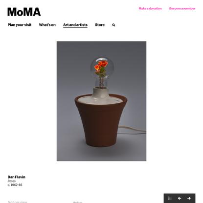 Dan Flavin. Roses. c. 1962-66   MoMA
