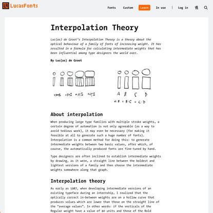 Interpolation Theory | LucasFonts