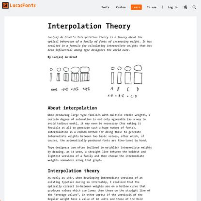 Interpolation Theory | LucasFonts