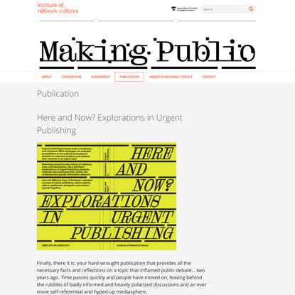 » Publication