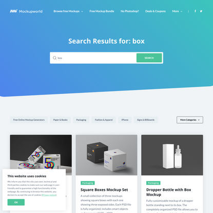 You searched for box   Page 3 of 8   Mockup World