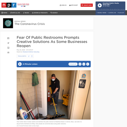 Fear Of Public Restrooms Prompts Creative Solutions As Some Businesses Reopen