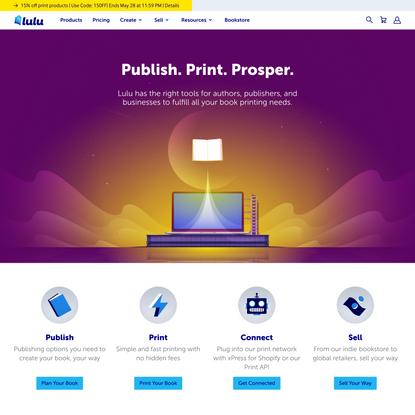 Online Self-Publishing Book & Ebook Company | Lulu