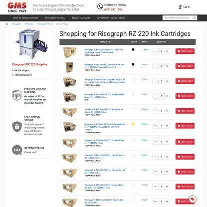 Risograph RZ 220 Ink Cartridges | GM Supplies