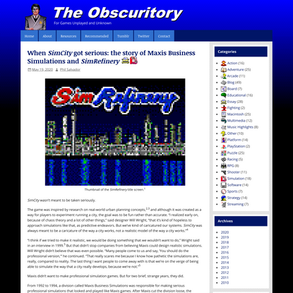 When SimCity got serious: the story of Maxis Business Simulations and SimRefinery | The Obscuritory