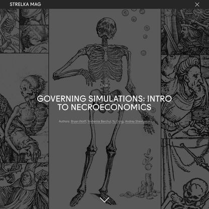 Governing Simulations: Intro to Necroeconomics
