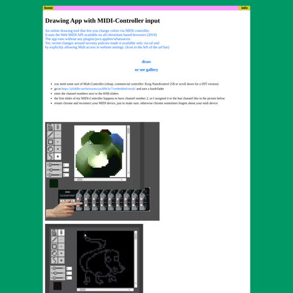 MIDI-controlled drawing app