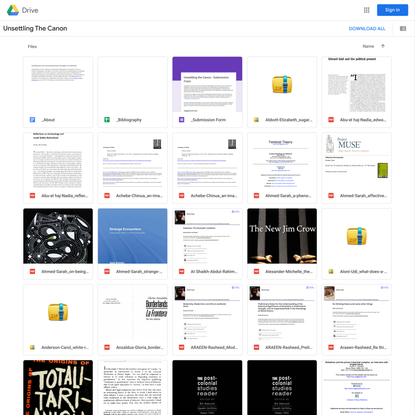Unsettling The Canon - Google Drive