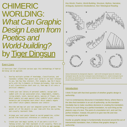 Chimeric Worlding