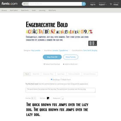 Engebrechtre Bold   Fonts.com