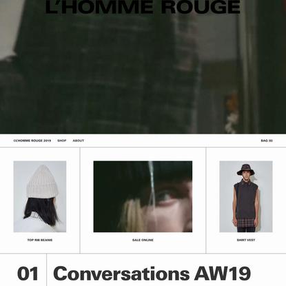 L'HOMME ROUGE - AUTUMN/WINTER SALE