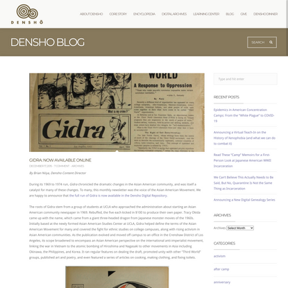Gidra: Now Available Online - Densho: Japanese American Incarceration and Japanese Internment