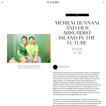 Meriem Bennani and Her Absurdist Island in the Future | Cultured Magazine
